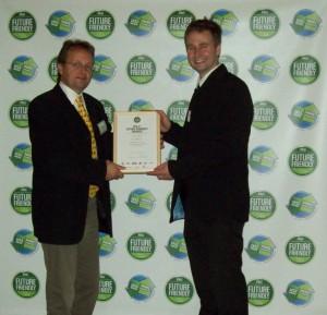Simon and Martin at Future Friendly awards
